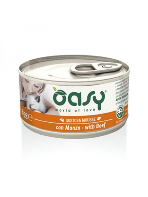 Oasy cat mousse con manzo 85g