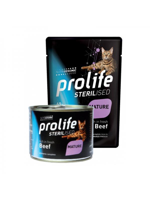 Prolife Cat Sterilised Grain Free Mature Beef 85g