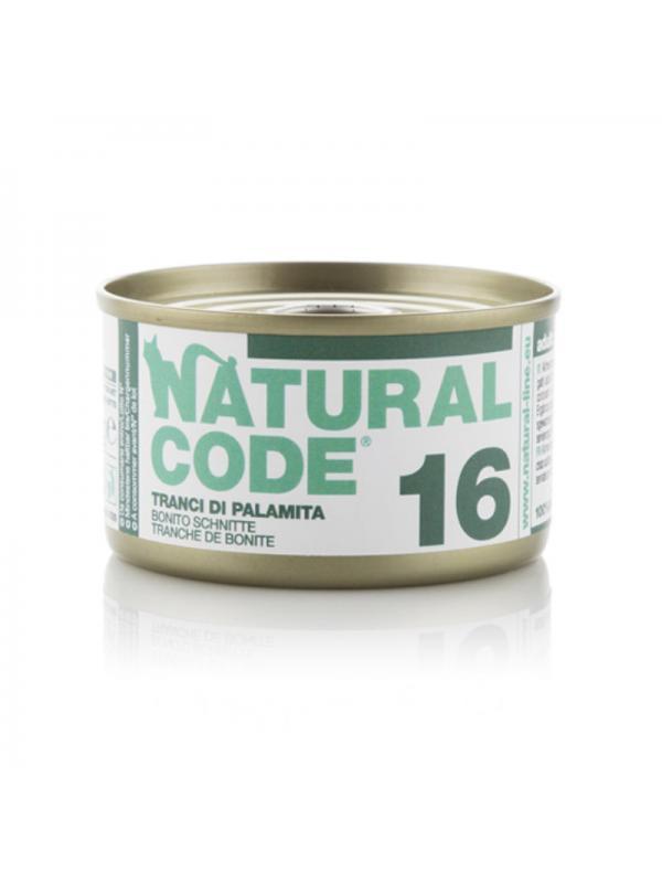 Natural Code Gatto Scatoletta 16 tranci di palamita 85g