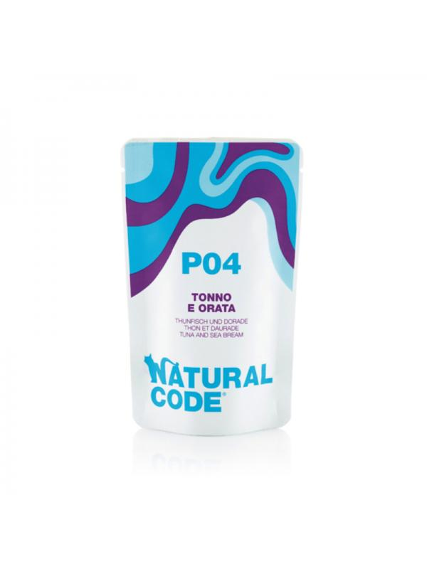 Natural Code Gatto Busta 04 tonno, orata 70g