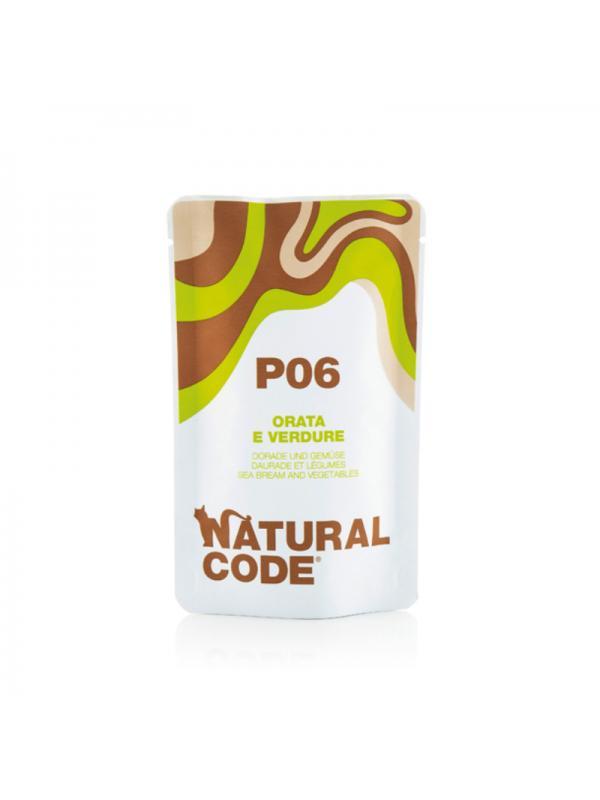 Natural Code Gatto Busta 06 orata e verdure 70g