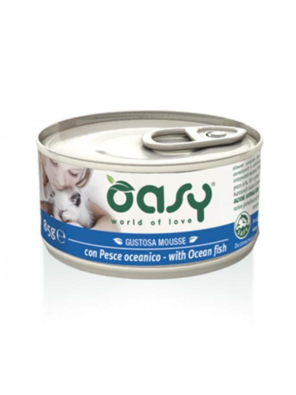 Oasy cat mousse con pesce oceanico 85g