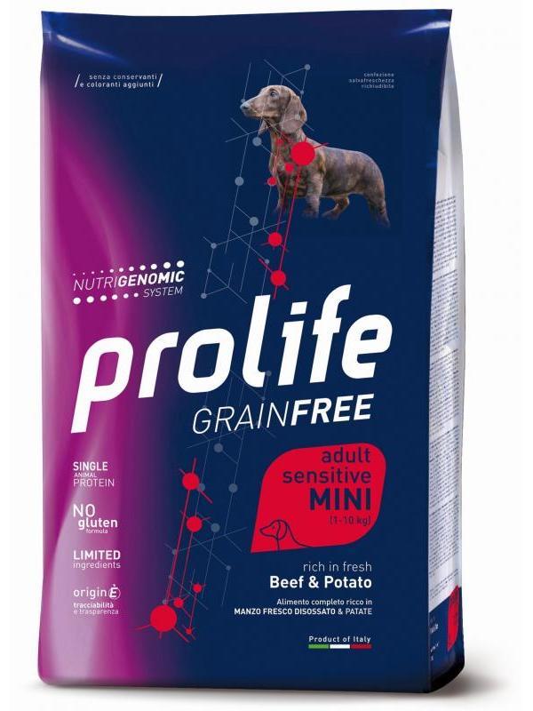 Prolife Grain Free Adult Sensitive Beef & Potato - Mini 7kg