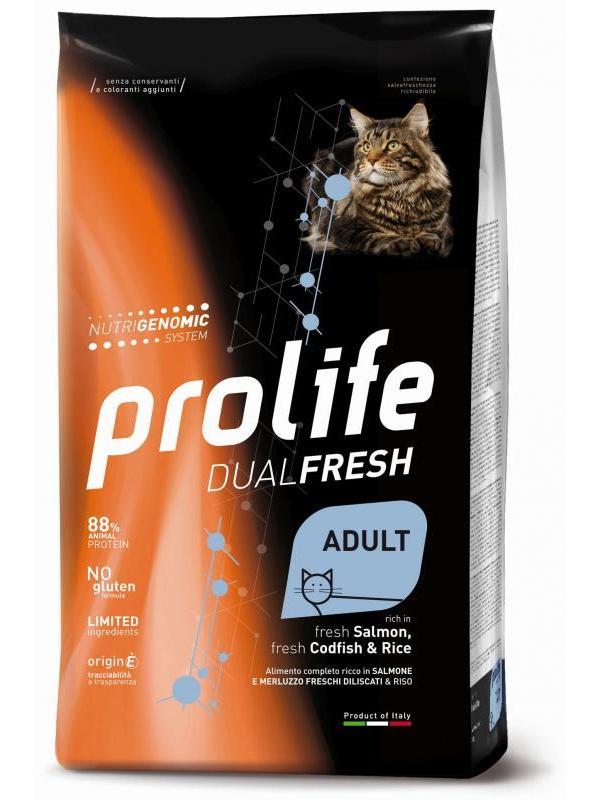 Prolife Dual Fresh Adult fresh Salmon, fresh Codfish & Rice 400g
