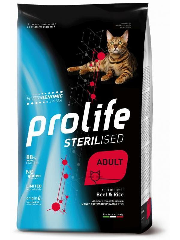 Prolife Sterilised Adult Beef & Rice 7kg