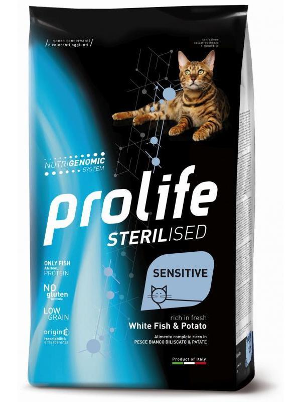 Prolife Sterilised Sensitive Adult White Fish & Potato 400g