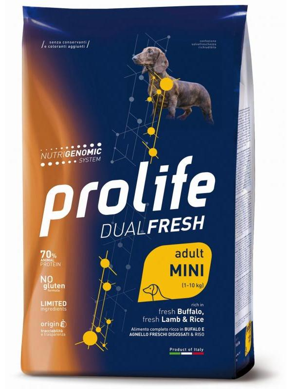 Prolife Dual Fresh Adult fresh Buffalo, fresh Lamb & Rice - Mini 0,6kg