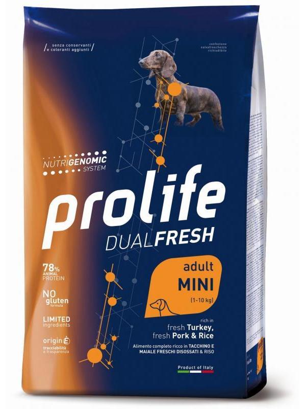 Prolife Dual Fresh Adult fresh Turkey, fresh Pork & Rice - Mini 7kg