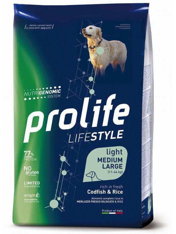 Prolife Life Style Adult Light Codfish & Rice - Medium/Large 12kg