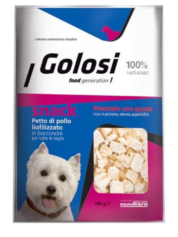 Golosi dog snack petto di pollo liofilizzato 100g