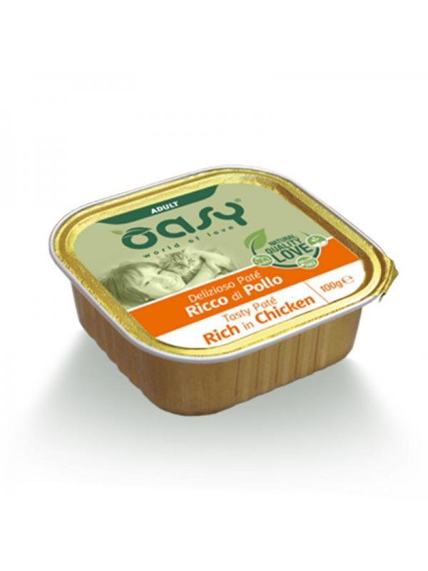 Oasy cat adult patè vaschetta con pollo 100g