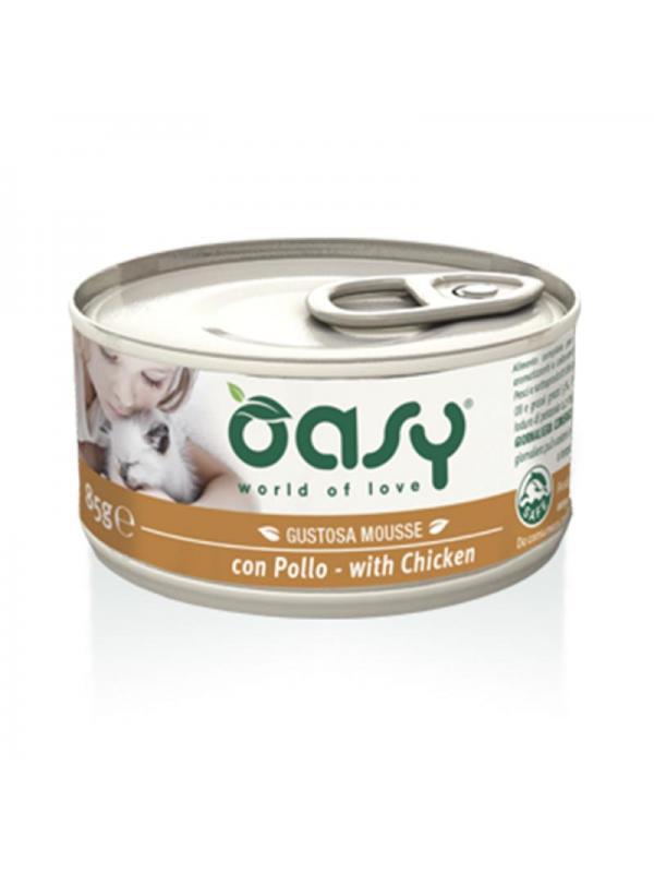 Oasy cat mousse con pollo 85g