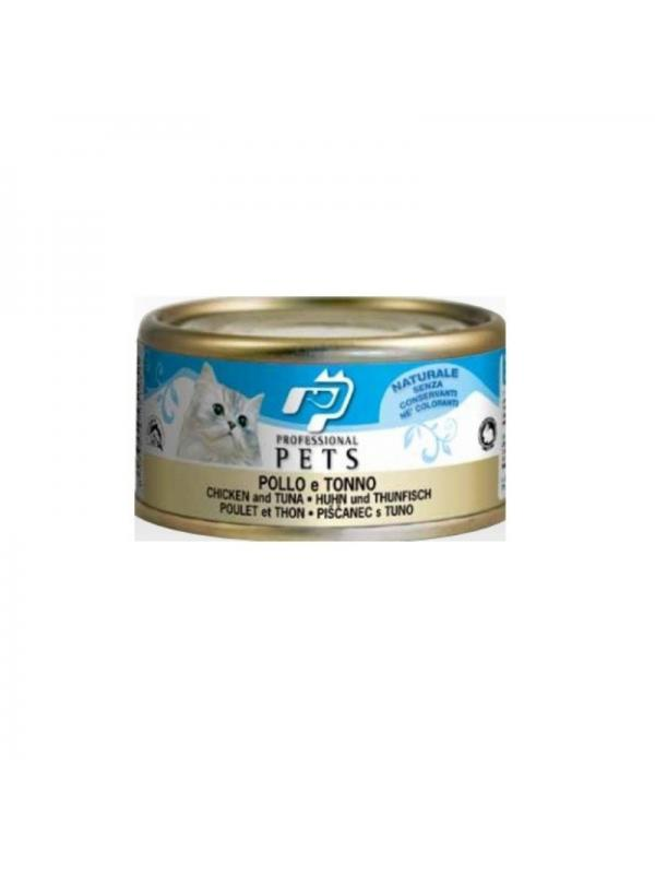 Professional pets Gatto scatoletta con pollo e tonno 70g