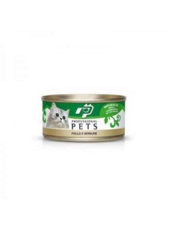 Professional pets Gatto scatoletta con pollo e verdure 70g