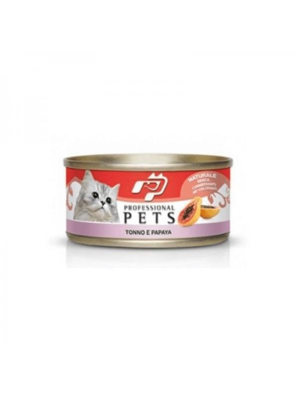 Professional pets Gatto scatoletta con tonno, papaya 70g