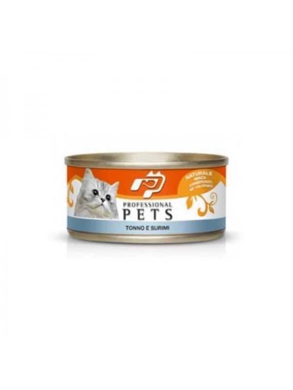 Professional pets Gatto scatoletta con tonno e surimi 70g
