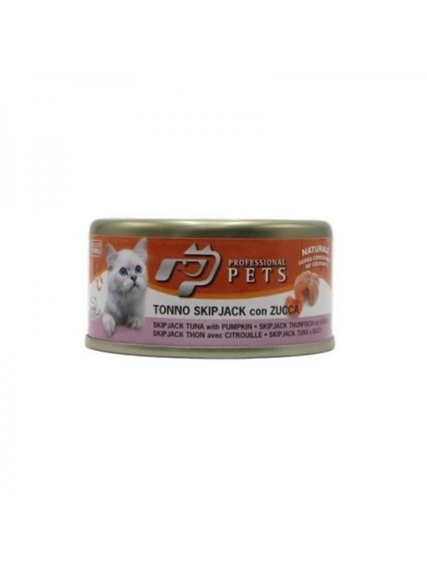 Professional pets Gatto scatoletta con tonno, zucca 70g