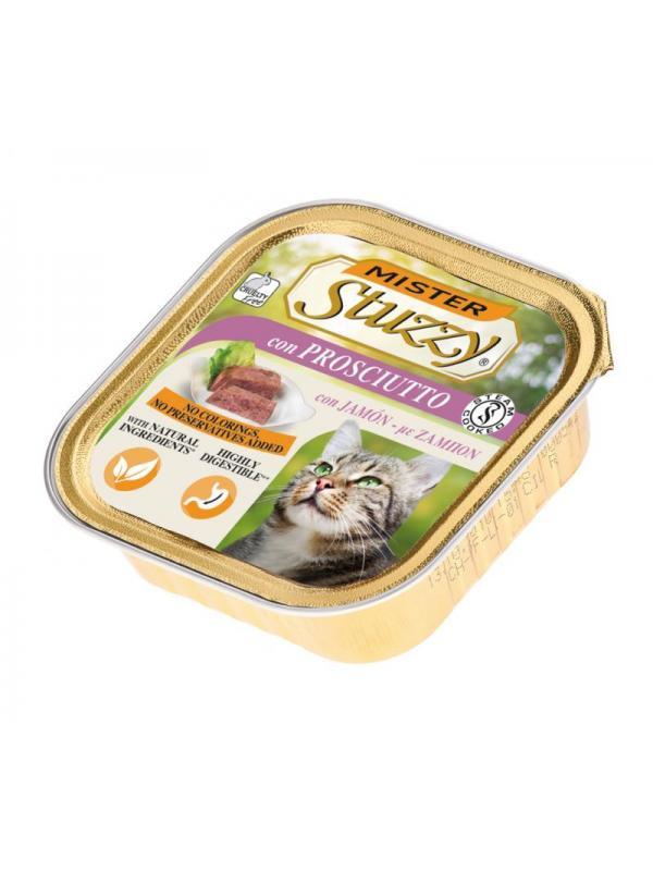 Stuzzy vaschetta cat con prosciutto 100g
