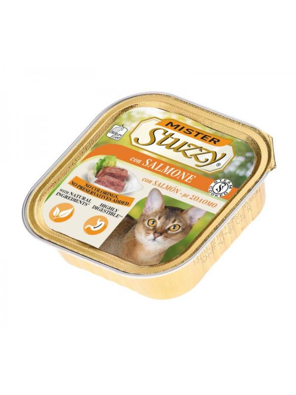 Stuzzy vaschetta cat con salmone100g