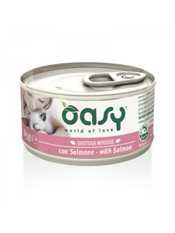 Oasy cat mousse con salmone 85g