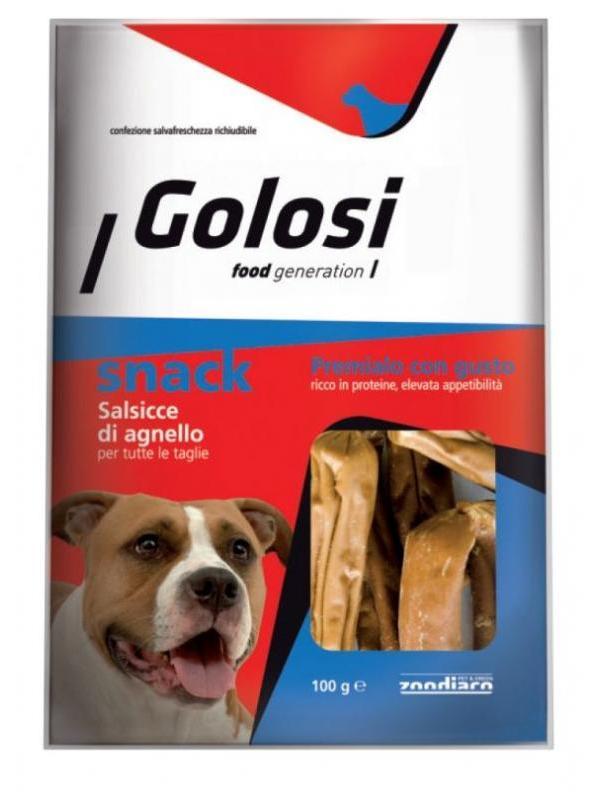 Golosi dog snack salsicce di agnello 100g