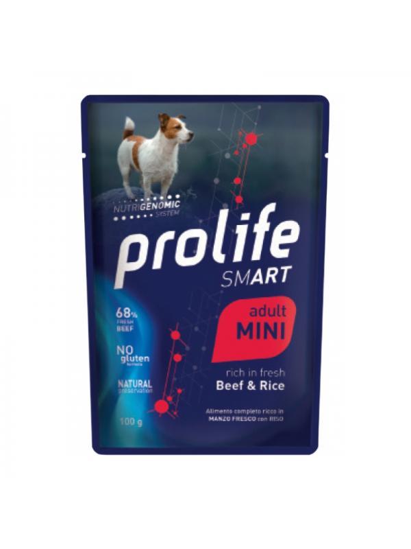 Prolife Dog Smart Adult Beef & Rice - Busta 100g