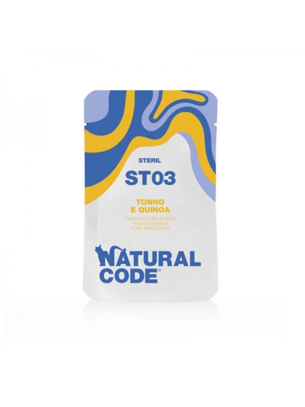 Natural Code Gatto sterilizzato busta 03 tonno e quinoa 70g