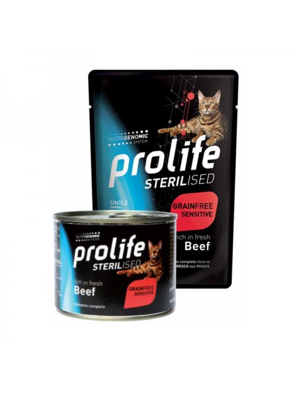 Prolife Cat Sterilised Grain Free Adult Beef 85g