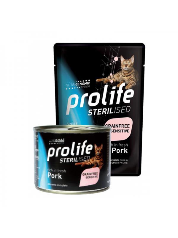 Prolife Cat sensitive Grain Free Adult Pork 200g