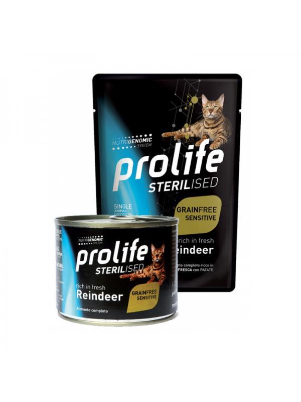 Prolife Cat Sterilised Grain Free Adult Reindeer 85g