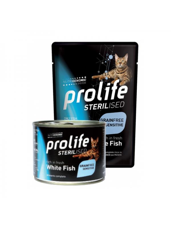 Prolife Cat Sterilised Grain Free Adult White Fish 85g