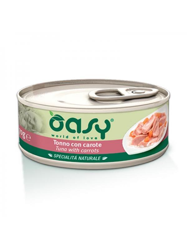 Oasy cat scatoletta con tonno e carote 70g