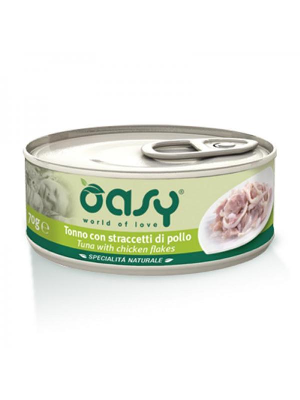 Oasy cat scatoletta con tonno e straccetti di pollo 150g