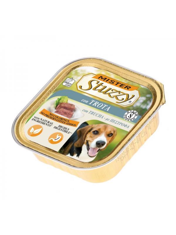 Stuzzy dog vaschetta con trota 150g