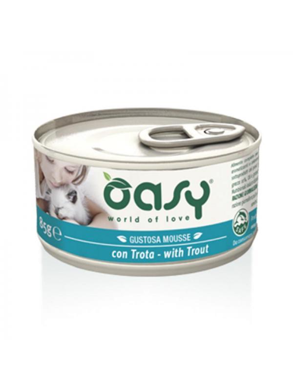 Oasy cat mousse con trota 85g