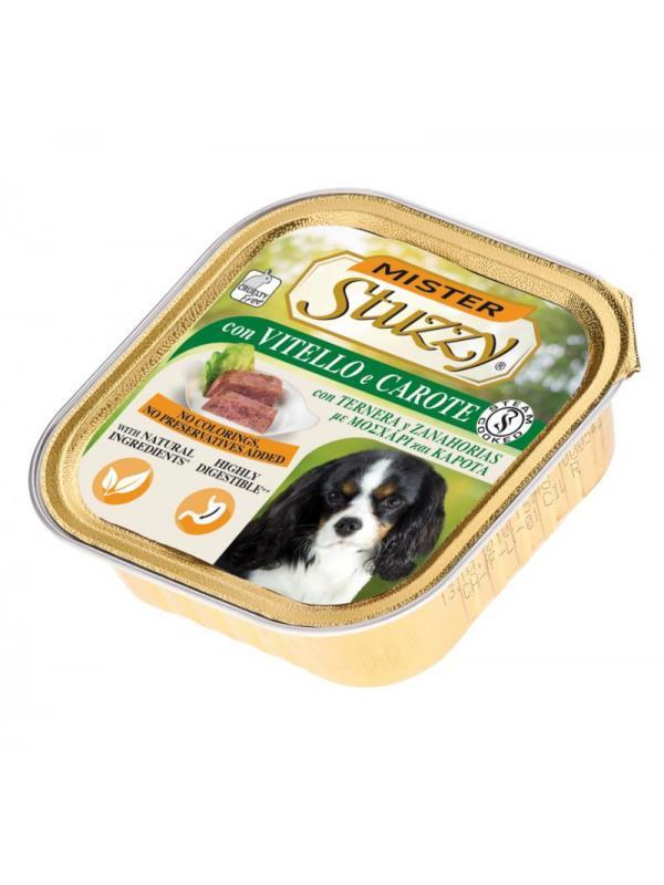 Stuzzy dog vaschetta con vitello e carote 150g