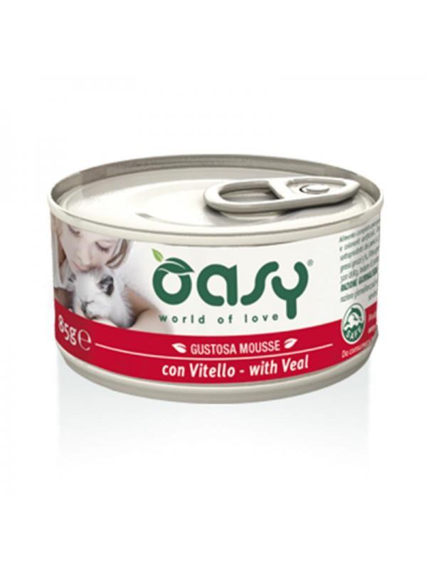 Oasy cat mousse con vitello 85g